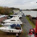Kran im Hafen vom Monasteria Yachtclub Münster