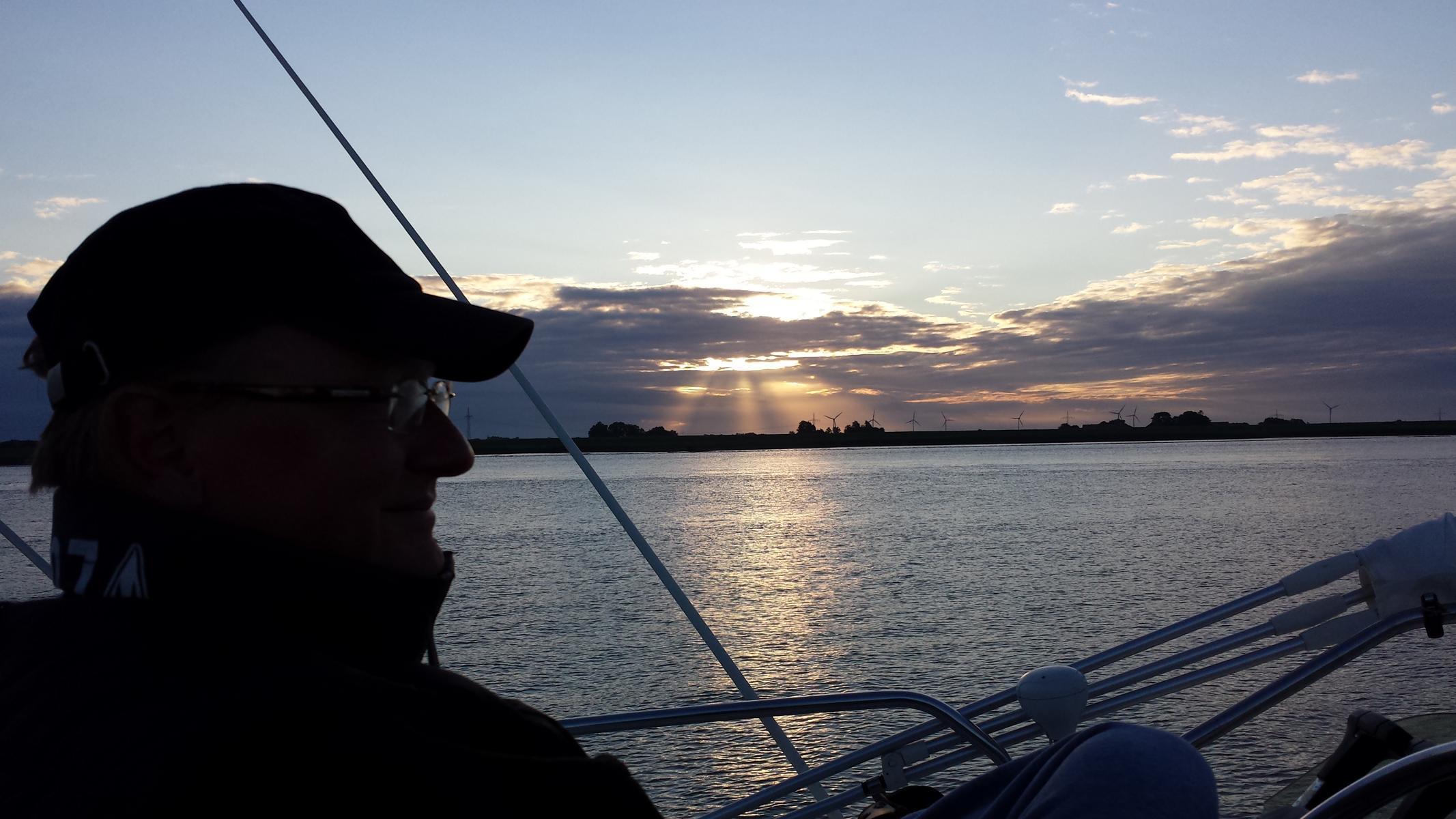 Morgenstimmung auf der Ems - Monasteria Yachtclub Münster
